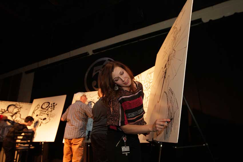 Ink Madness Event Photos - People drawing and enjoying the evening